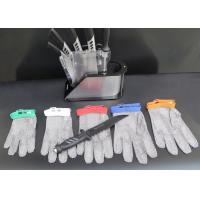 Wholesale Stainless Kitchen Cut Resistant Gloves / Hand Protection Gloves Nylon Belt Design from china suppliers