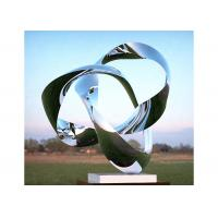 China Custom Size Mirror Polished Stainless Steel Sculpture Modern Art Sculpture for sale
