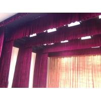 Wholesale fire retardant pleuche for theater curtains, gold velour, washable, 260 gsm from china suppliers