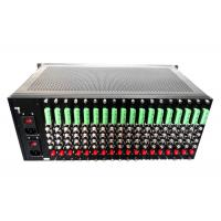 Wholesale 4U rack-mount chassis for video to fiber converter cards dual power from china suppliers