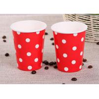 Wholesale Takeaway Single Wall Paper Cups , Red Personalized Wedding Paper Cups from china suppliers