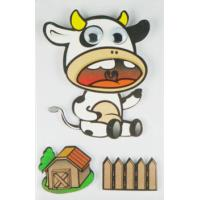 Wholesale Cow Design Kids Scrapbook Stickers , Custom Die Cut Stickers 1.0 Mm Thin from china suppliers