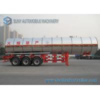 China 3 Axle 38000L Butyl Acetate Chemical Liquid Tank Trailers With Ellipse Shaped on sale