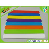 Buy cheap Flexible Green Slap Bracelet Sports Silicone Bracelets With Metal Plate Inside from wholesalers