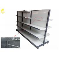 Wholesale Adjustable Supermarket Steel Racks Hooks With Steel Stopper / Upper Shelves from china suppliers