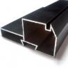 Black Powder Coated RAL9006 Aluminium LED Profiles / Aluminum Extrusion Profiles for sale