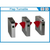 China 304 Stainless Steel Flap Barrier Gate 35-40 Person / Min Speed 3 Pairs Infrared Sensor on sale