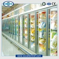 China Glass door refrigerator showcase for supermarket  Remote types  of 918mm Depth on sale