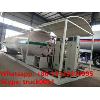 Buy cheap best quality skid mounted propane gas filling plant for sale, double electronic scales skid lpg gas station for sale from Wholesalers