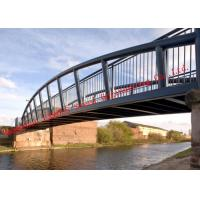 Long Span Galvanized Surface Treatment Steel Truss Bridge Modern Structural Outlooking for sale