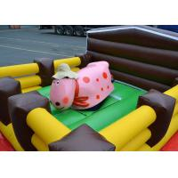Wholesale Crazy Junior Rodeo Bull Ride Outdoor Inflatable Games Air Mechanical Bull from china suppliers