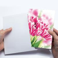 Wholesale 12x17cm Fold Lenticular Greeting Cards , Flower 3D Greeting Cards For Holiday / New Year from china suppliers