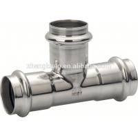 China Forged Stainless Steel Press Fittings Round Head Press Fit Plumbing Fittings on sale