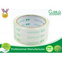 Quality Crystal Clear Bopp Printed Parcel Tape , Quiet Packing Tape With Pressure Sensitive for sale