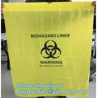 China Customized HDPE t-shirt plastic garbage bags for medical disposal yellow biohazard medical waste bag, bagplastics, bagpa on sale