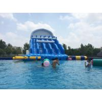 Wholesale Durable Red / Blue Inflatable Water Park 0.9mm PVC Tarpaulin For Entertainment from china suppliers