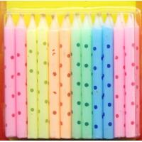 Wholesale Macaron Color Litte Colorful Dot Printed Birthday Candles from china suppliers