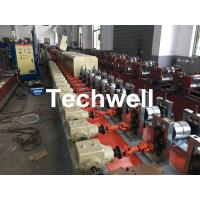Aluminum , Carbon Steel Pu Foam Rolling Shutter Door Making Machine With Servo Tracking Flying-Saw Cutting