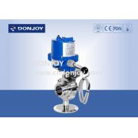 Wholesale Stainless steel sanitary level butterfly valves of ball type with electic actuator from china suppliers