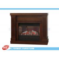 Buy cheap Decorative Brown MDF European Fireplace Heating For Home , Melamine finished from Wholesalers