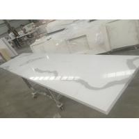 Wholesale Solid Surface Calacatta Quartz Slab Countertops With White Vein OEM / ODM Avaliable from china suppliers
