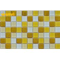 Wholesale Custom Washable Villas Gold Glass Mosaic Tile With Low Water Aborption from china suppliers