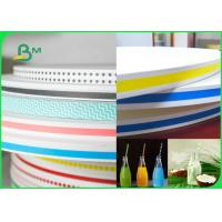 China 15MM 60gsm Straw Wrapping Paper Roll With Striped Color Print Food Grade Fully Recyclable for sale