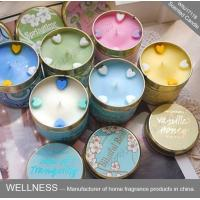 Wholesale Soy Wax Scented Tin Candles , Handmade Non Toxic Long Lasting Scented Candles from china suppliers