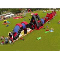 Wholesale Outdoor Obstacle Course Game For Playground , Boot Camp Inflatable Obstacle Course from china suppliers