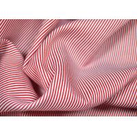 Wholesale Soft Touch Cotton Yarn Dyed Fabric , Smooth Red And White Striped Material from china suppliers