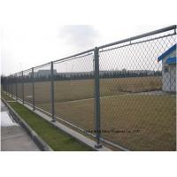 Wholesale Hot Dipped Galvanized Steel Wire Fencing , Residential Metal Chain Link Fence from china suppliers