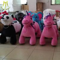 Wholesale Hansel  indoor and outdoor riding games zoo animals kiddie ride panda plush toy from china suppliers