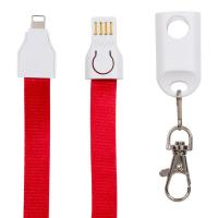 Fast Charge USB Port Extension Cable Lanyard 3 In 1 For Smartphone Portable