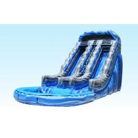 Wholesale 18Ft Summer Splash Kids Inflatable Water Slides 0.55-0.9mm PVC Tarpaulin For Park Centre from china suppliers