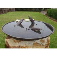 Wholesale Antique Cast Metal Fish Bronze Statue Bowl Water Fountain Metal Lawn Sculptures from china suppliers