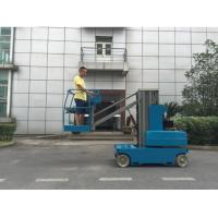 Wholesale 360 Degree Rotation Electric Cherry Picker Single Mast Aerial Work Platform Manlift from china suppliers