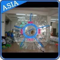 Ce Certificated Transparent Inflatable Zorb Ball In Clear With Color Stirps for sale