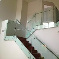 Wholesale Indoor Standoff Glass Railing Stainless Steel Staircase Railing Price India from china suppliers