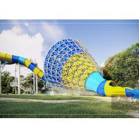Medium Tornado Water Slide / Commercial Extreme Water Slides For Gigantic Aquatic Park