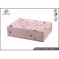 Wholesale Newly Design Folding Gift Boxes Charming Pink Printing Easy Disassembled from china suppliers