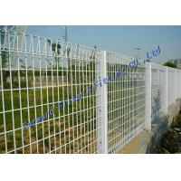Wholesale Green PVC Welded Woven Metal Mesh , Concrete Reinforced Steel Chain Link Fence from china suppliers