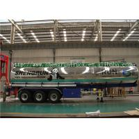 42 Cubic meters aluminum alloy transport fuel tanker semi trailer with 3 axles