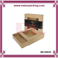 Wholesale Brown Kraft Paper Folding Drawer Gift Box with PVC window/Cosmetic set craft box ME-DR030 from china suppliers
