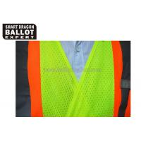 Quality Green Reflective Vests , High Reflective Safety Jacket For Election Voting Usage for sale