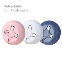 Buy cheap 3 In 1 Usb Cable 1M 2.1A Retractable from wholesalers