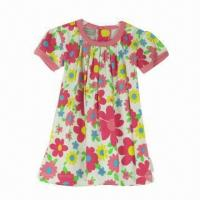 China Babies' dress with allover print, made of 100% cotton interlock on sale