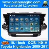 Wholesale Ouchuangbo Toyota Highlander 2009-2011 android 4.2  autoradio DVD GPS stereo navigation system support   4 core MP4 Aux from china suppliers