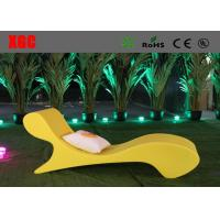 Wholesale Waterproof Plastic Outdoor Furniture Color Changing Coffee Chair Lounge from china suppliers