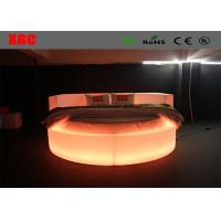 Wholesale King Size LED Light Bed Swimming Pool Side Sunbed 235*235*85cm Size from china suppliers