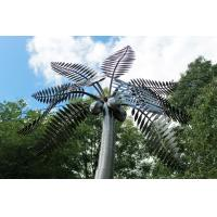 China Stainless Steel Palm Tree Large Outdoor Sculpture Metal Garden Ornaments for sale
